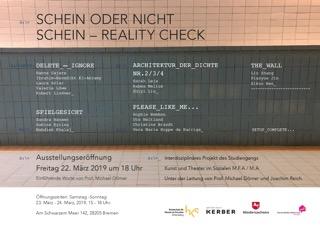 März 2019 – SCHEIN ODER NICHT SCHEIN – REALITY CHECK