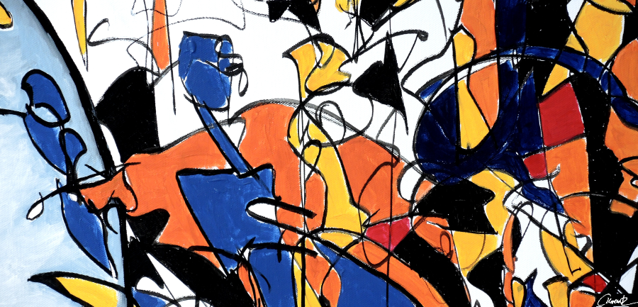 APRIL 2019 – Ausstellung von Claudia Krentz: Bewegungen im Treppenhaus